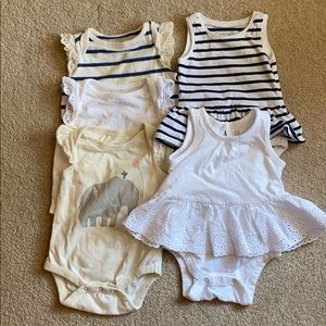 Lot of Old Navy and Baby Gap Bodysuits